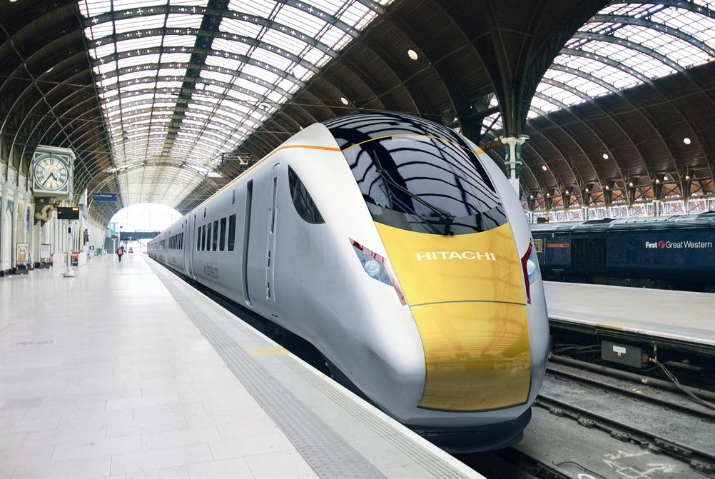 Le train Hitachi avec des systèmes d'échappement et des tuyauteries isolées de conception spéciale