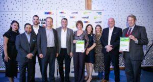 Eminox team accepting both awards
