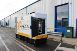 Falcon genset fitted with Eminox retrofit technology